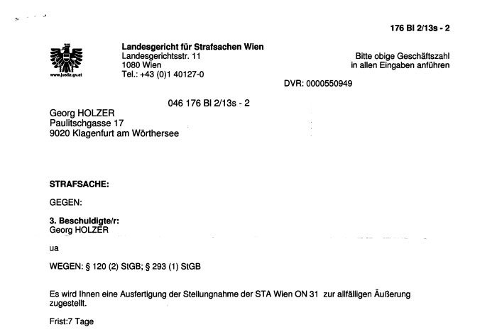 Ernst Strassers Strafanzeigen gegen mich und wie man das Internet nicht säubert