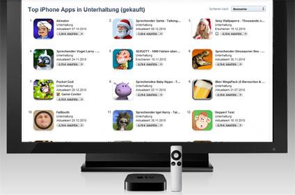 AppStore on Apple TV, Montage